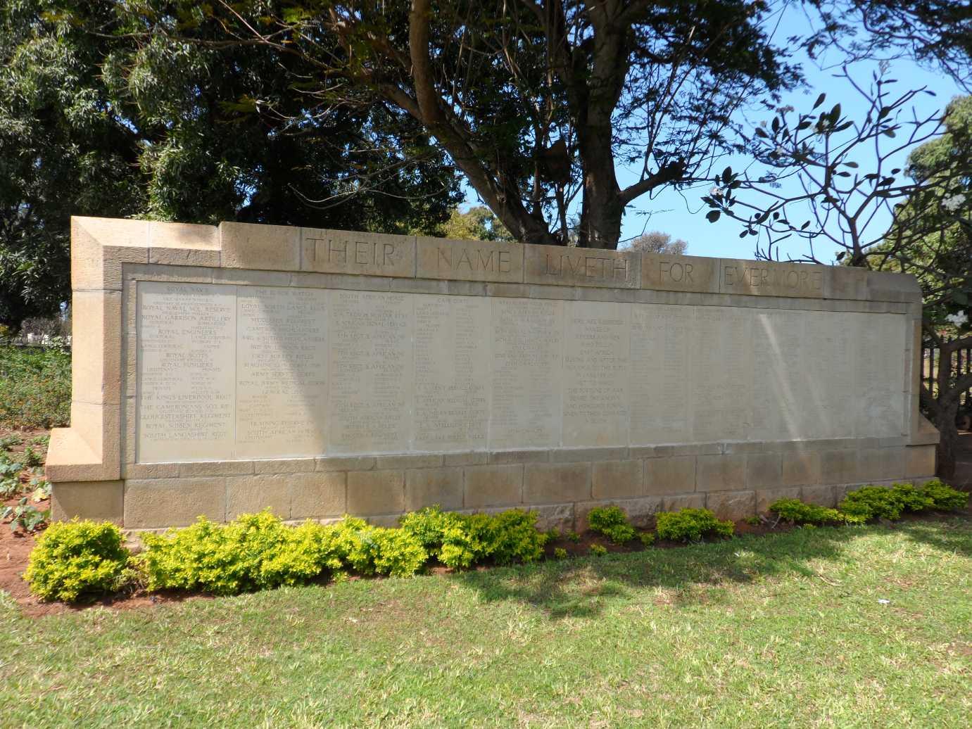 DAR ES SALAAM BRITISH AND INDIAN MEMORIAL - CWGC