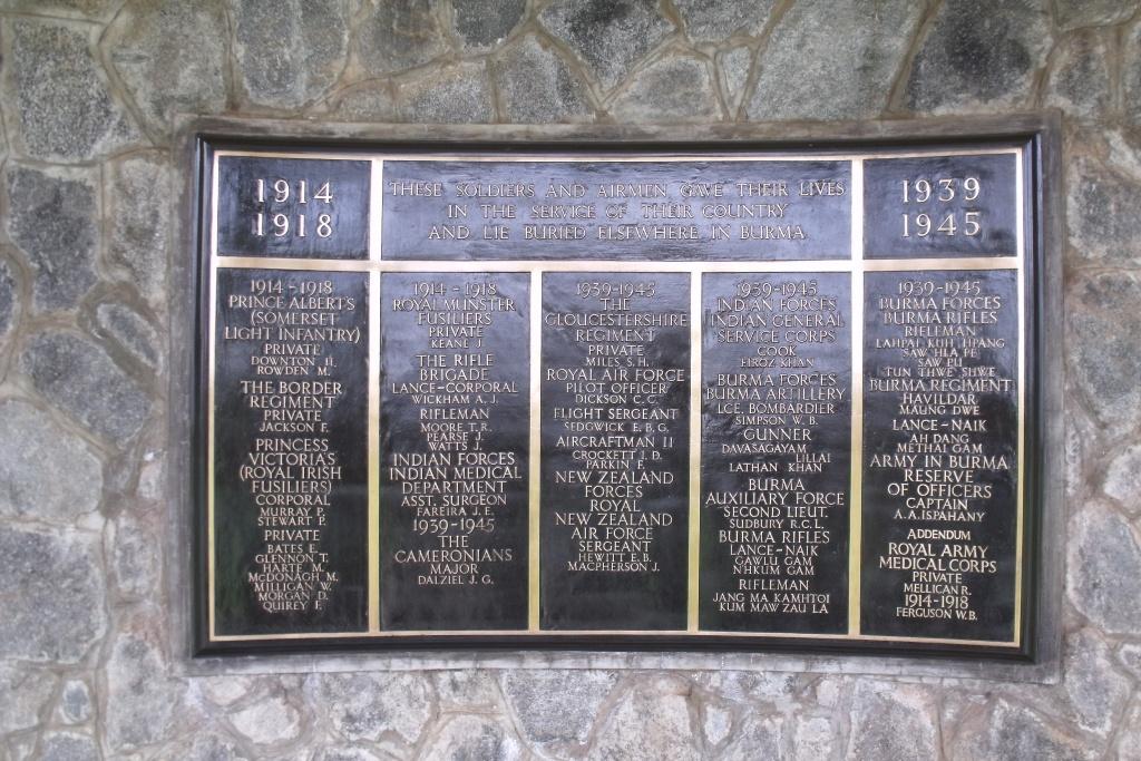 TAUKKYAN MEMORIAL - CWGC