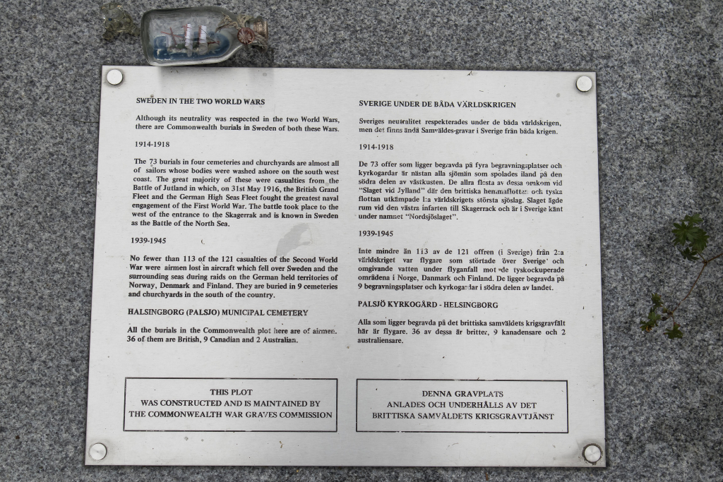 HELSINGBORG (PALSJO) MUNICIPAL CEMETERY - CWGC