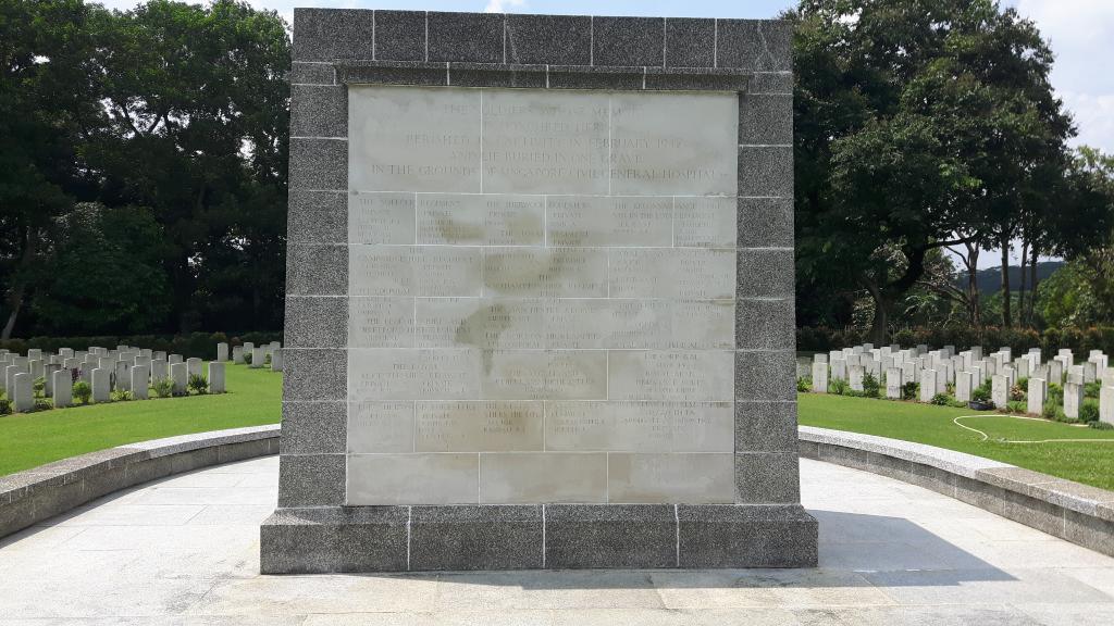 SINGAPORE CIVIL HOSPITAL GRAVE MEMORIAL - CWGC