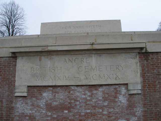 ANCRE BRITISH CEMETERY, BEAUMONT-HAMEL - CWGC