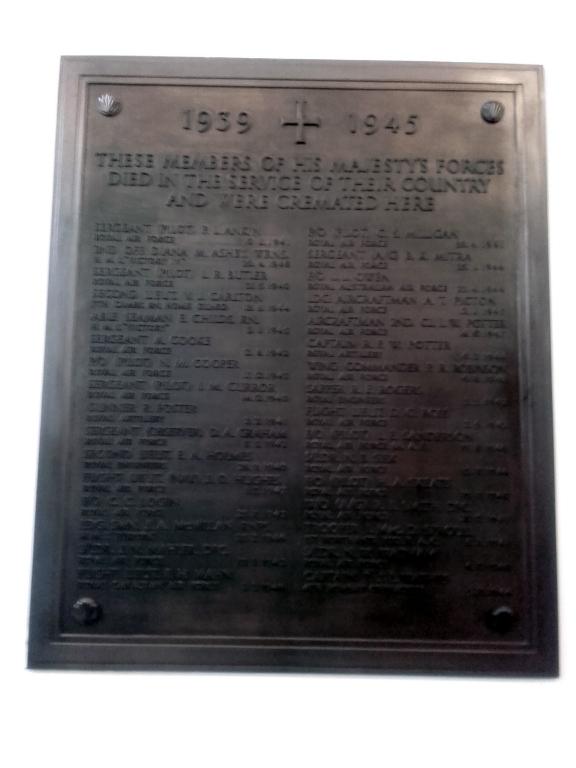 CAMBRIDGE CREMATORIUM - CWGC
