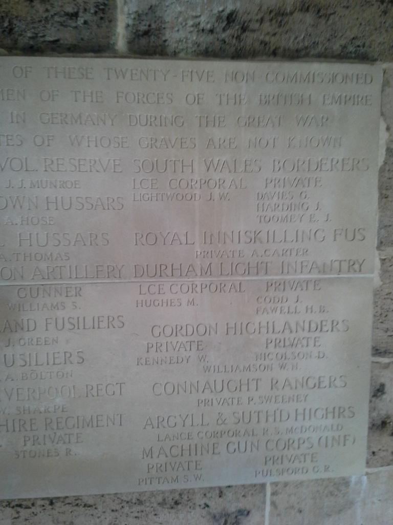 COLOGNE MEMORIAL - CWGC