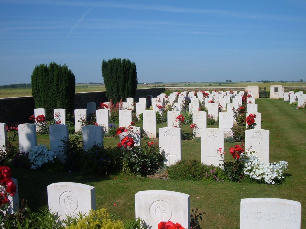 SANDERS KEEP MILITARY CEMETERY, GRAINCOURT-LES-HAVRINCOURT - CWGC
