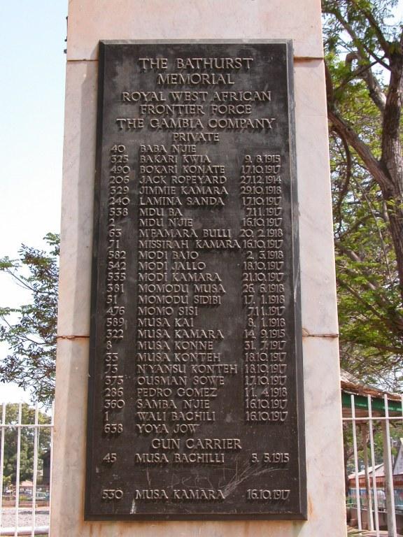 GAMBIA MEMORIAL - CWGC